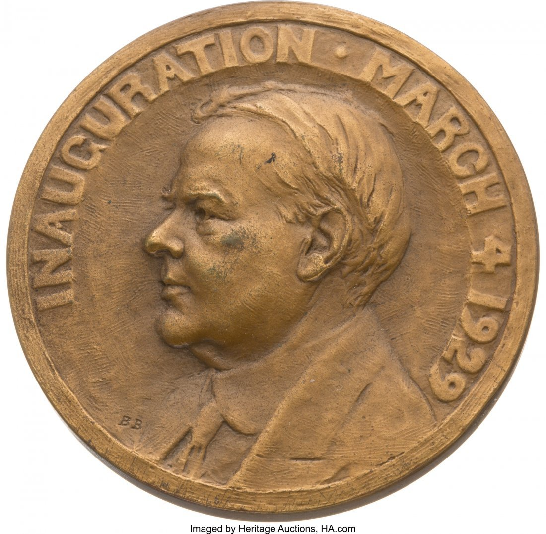 43569: Herbert Hoover: High Grade Official Inaugural Me