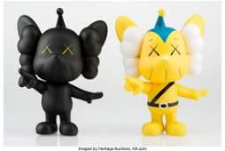 14027: KAWS (American, b. 1974) JPP (Yellow and Black)