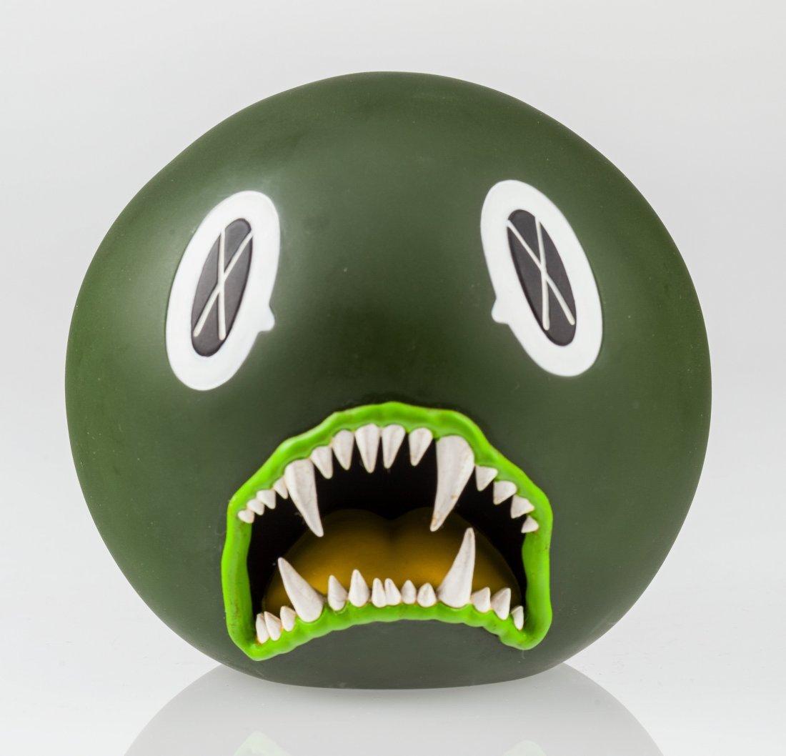 14019: KAWS (American, b. 1974) Cat Teeth Bank (Green),