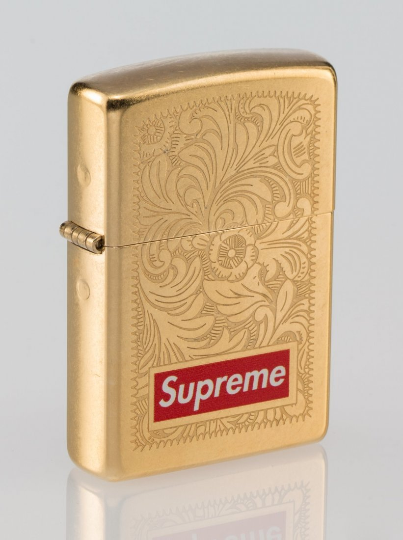 14062: Supreme X Zippo Lighter, c. 2011 Golden zippo li