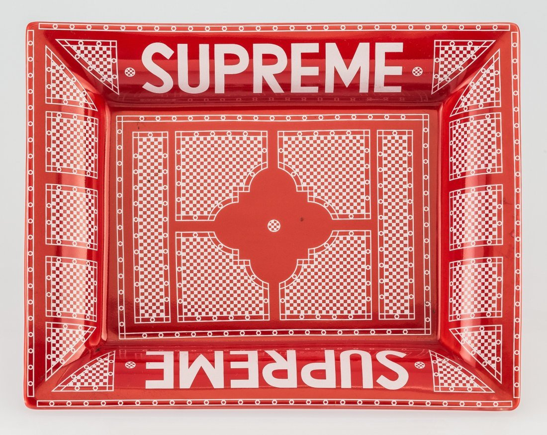 14063: Supreme  Hermes Ashtray (Red and White), c. 2012