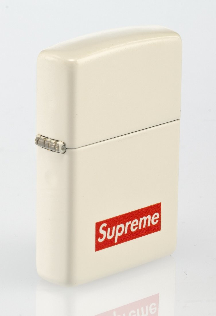 14065: Supreme X Zippo Lighter (White), 2012 White matt