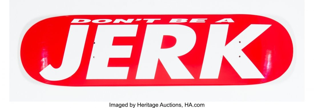 14095: Barbara Kruger (American, b. 1945) Don't Be A Je