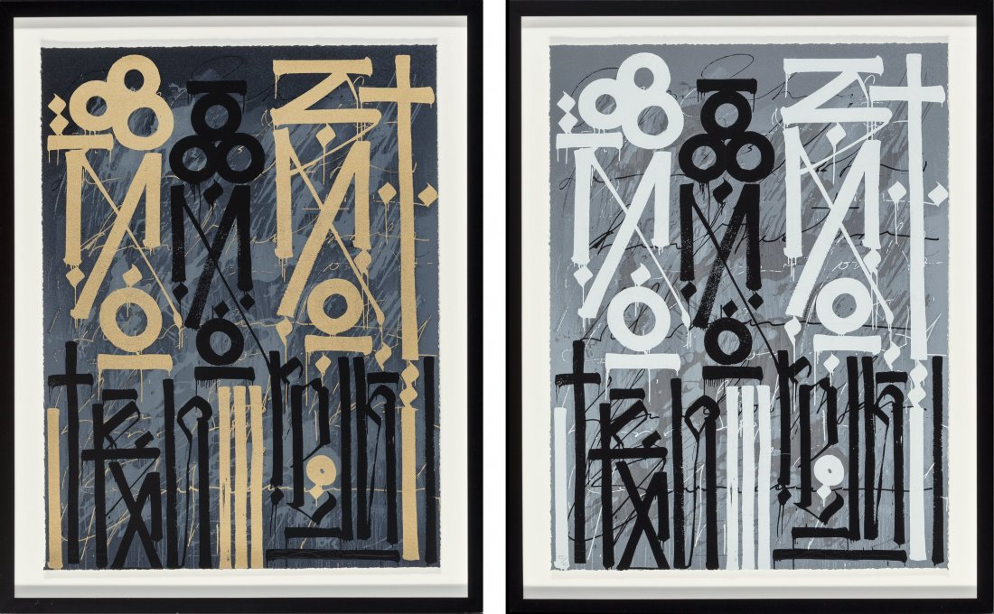 14083: RETNA (American, b. 1979) Eastern Realm (two wor