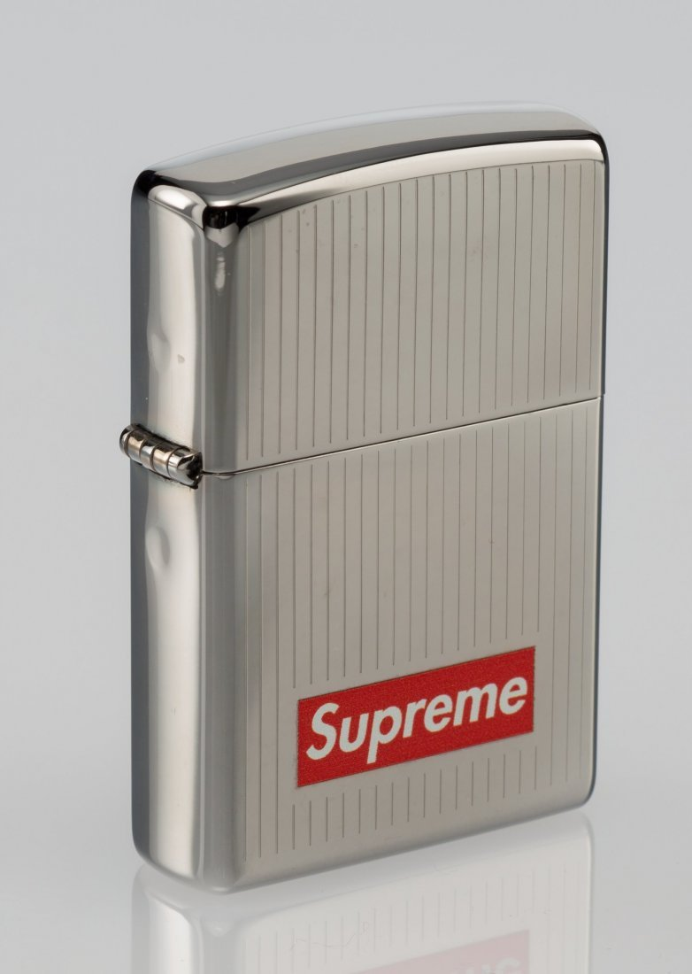 14074: Supreme X Zippo Lighter (Chrome), 2015 Chrome zi