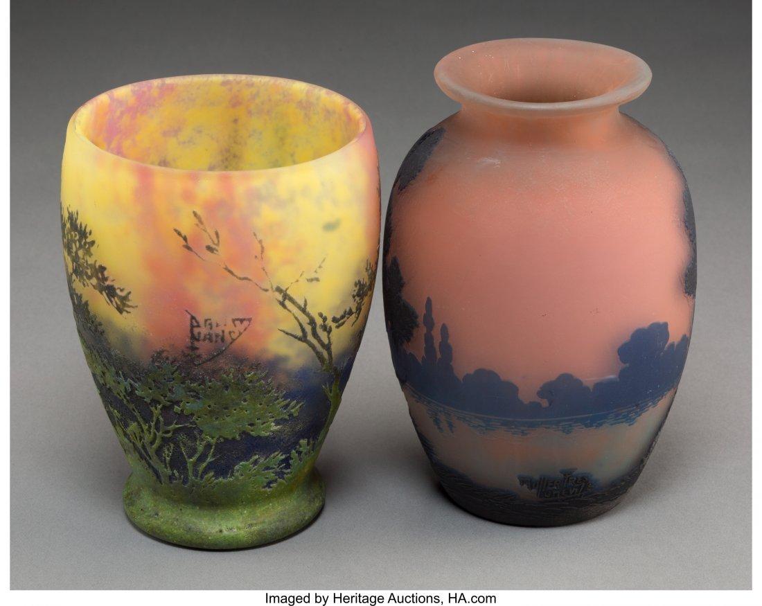 63346: A Daum Pate-de-Verre Landscape Vase with Muller  - 2