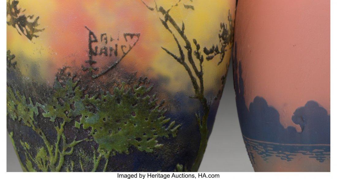 63346: A Daum Pate-de-Verre Landscape Vase with Muller  - 3