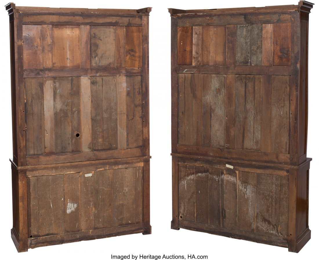 63096: A Pair of English George IV-Style Walnut Bookcas - 3