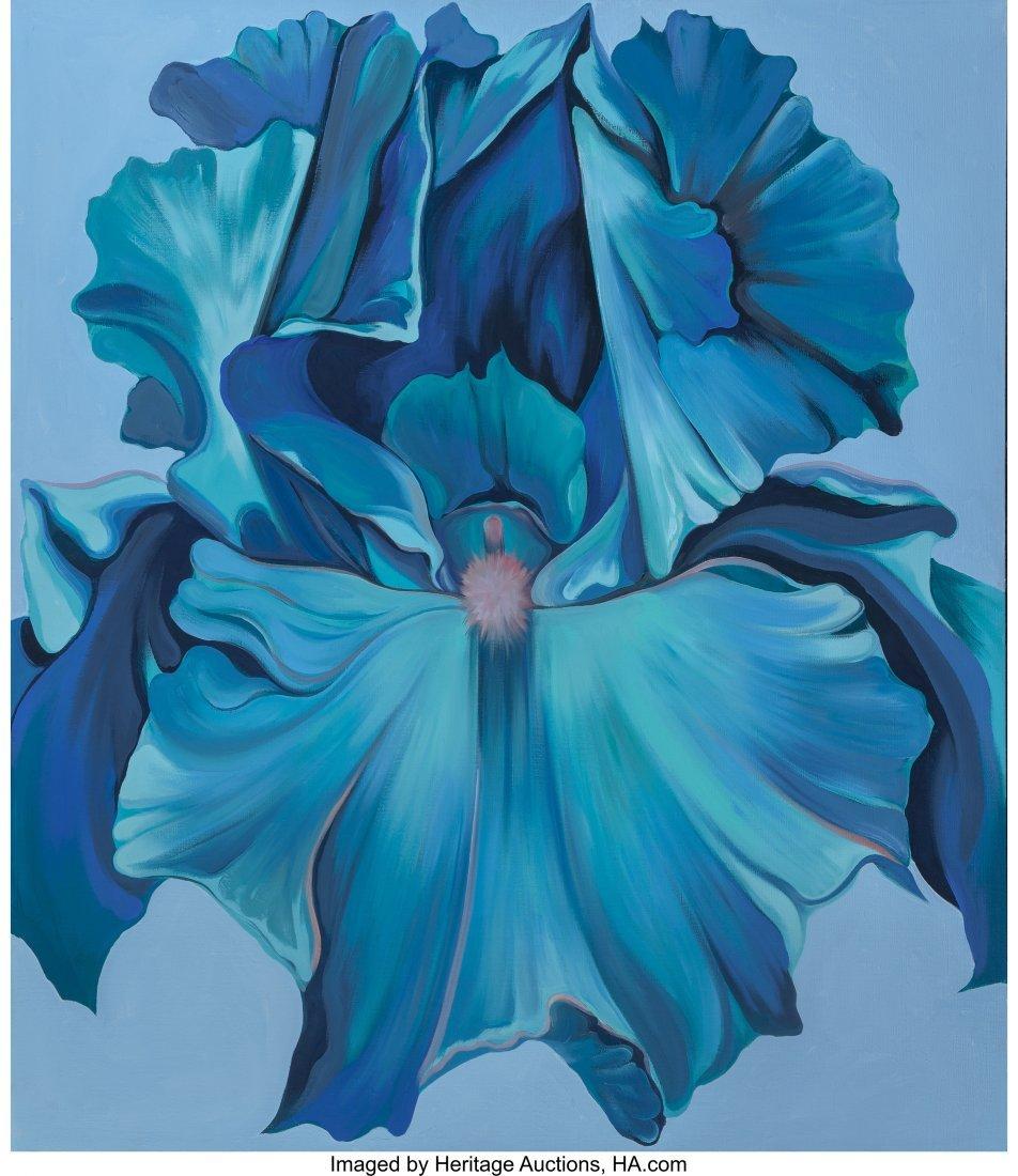 63268: Lowell Nesbitt (American, 1933-1993) Blue Iris o