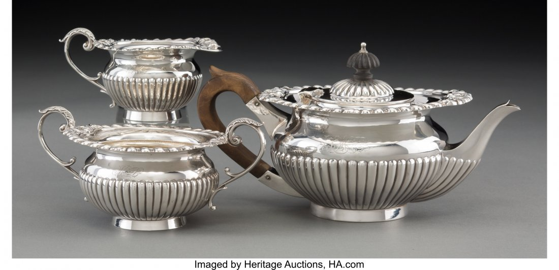 63106: A Three-Piece Maxfield & Sons Silver Bachelor's