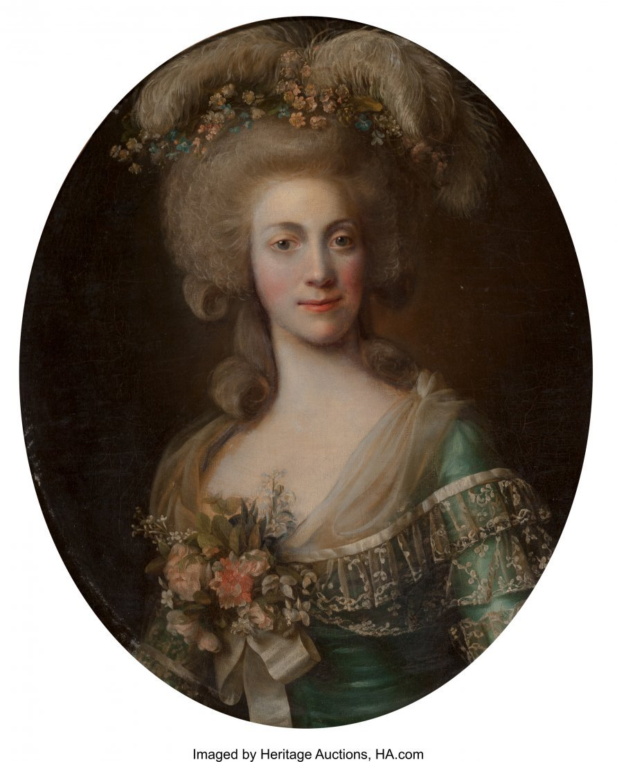 63182: Circle of Alexander Roslin  Portrait of a Lady,