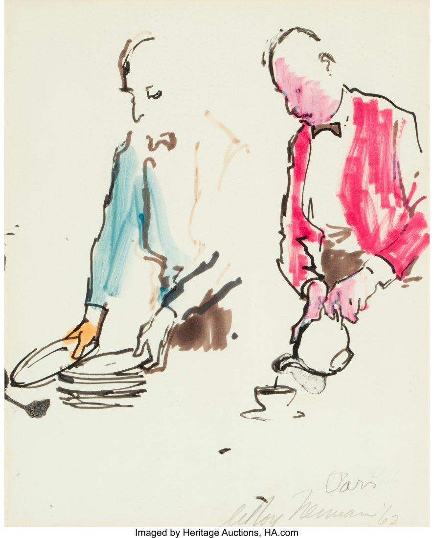 63277: LeRoy Neiman (American, 1921-2012) Les Garcons,