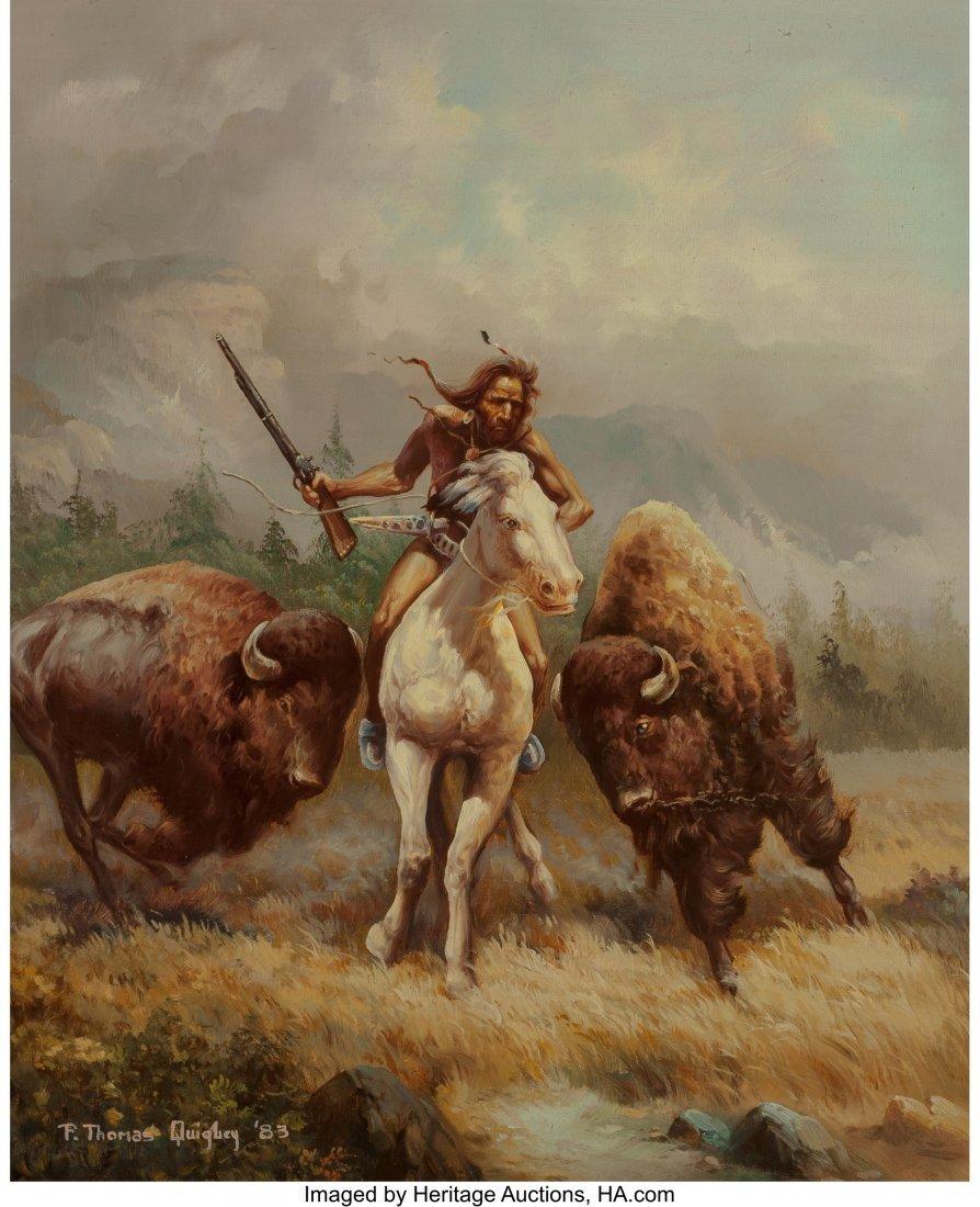 63014: F. Thomas Quigley (American, b. 1928) Buffalo Hu