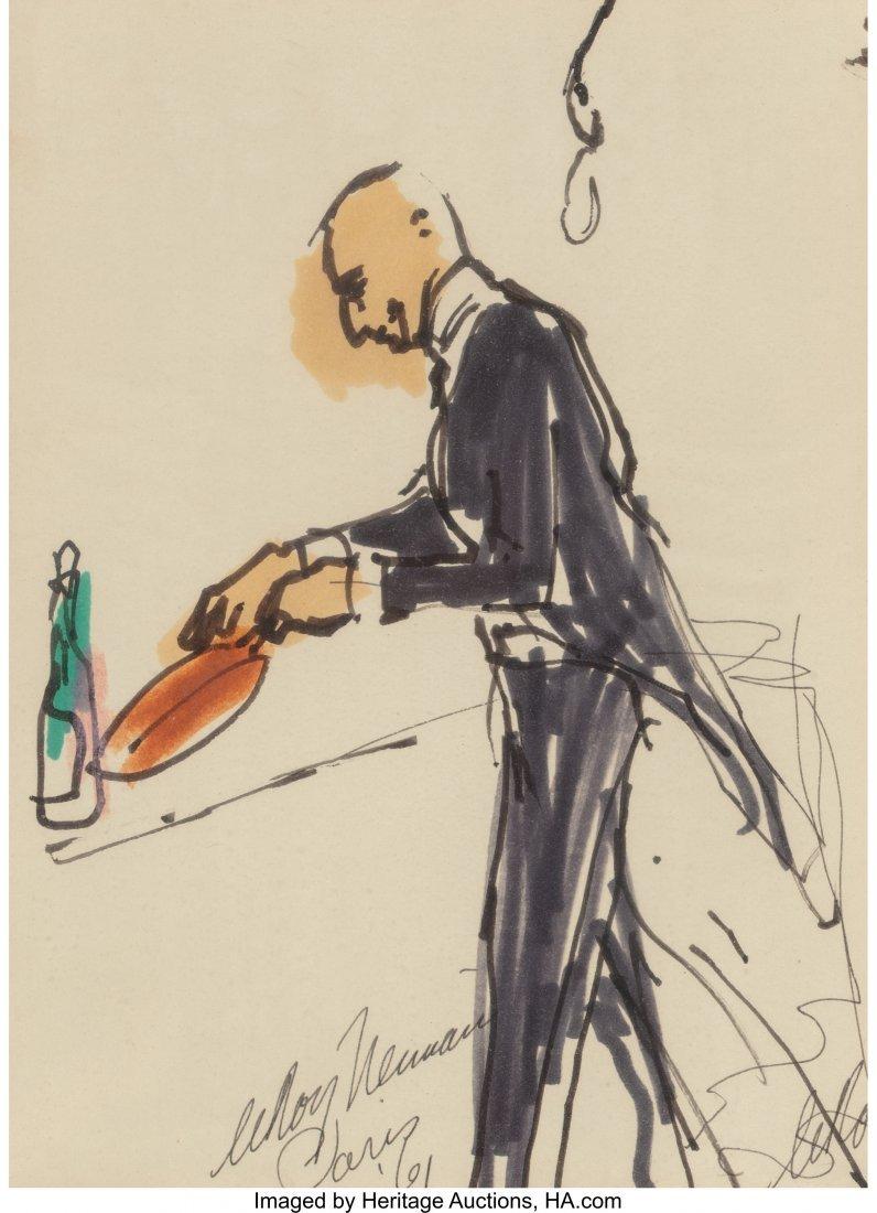 63279: LeRoy Neiman (American, 1921-2012) Waiter with C