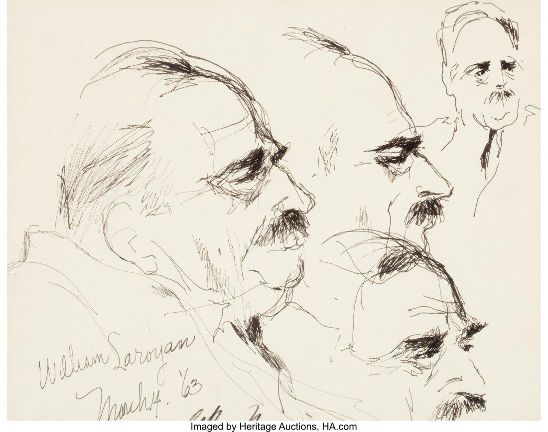 63280: LeRoy Neiman (American, 1921-2012) William Saroy