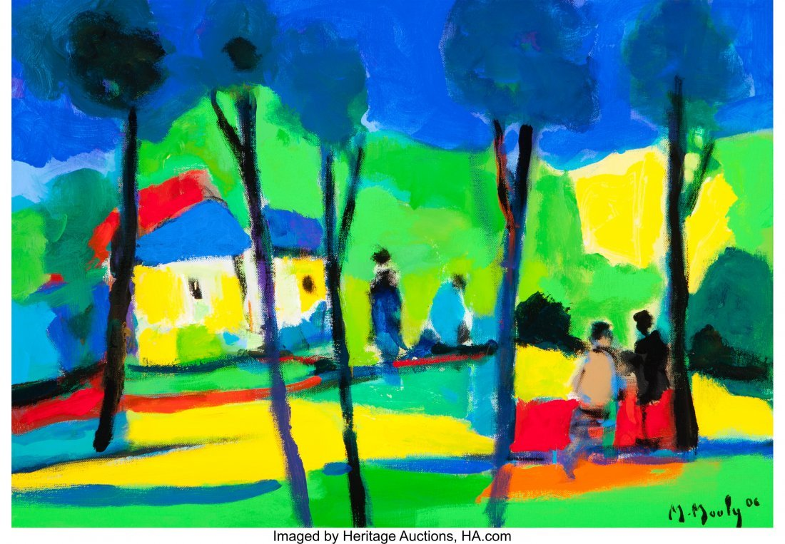 63283: Marcel Mouly (French, 1918-2008) Les Huttes Aux