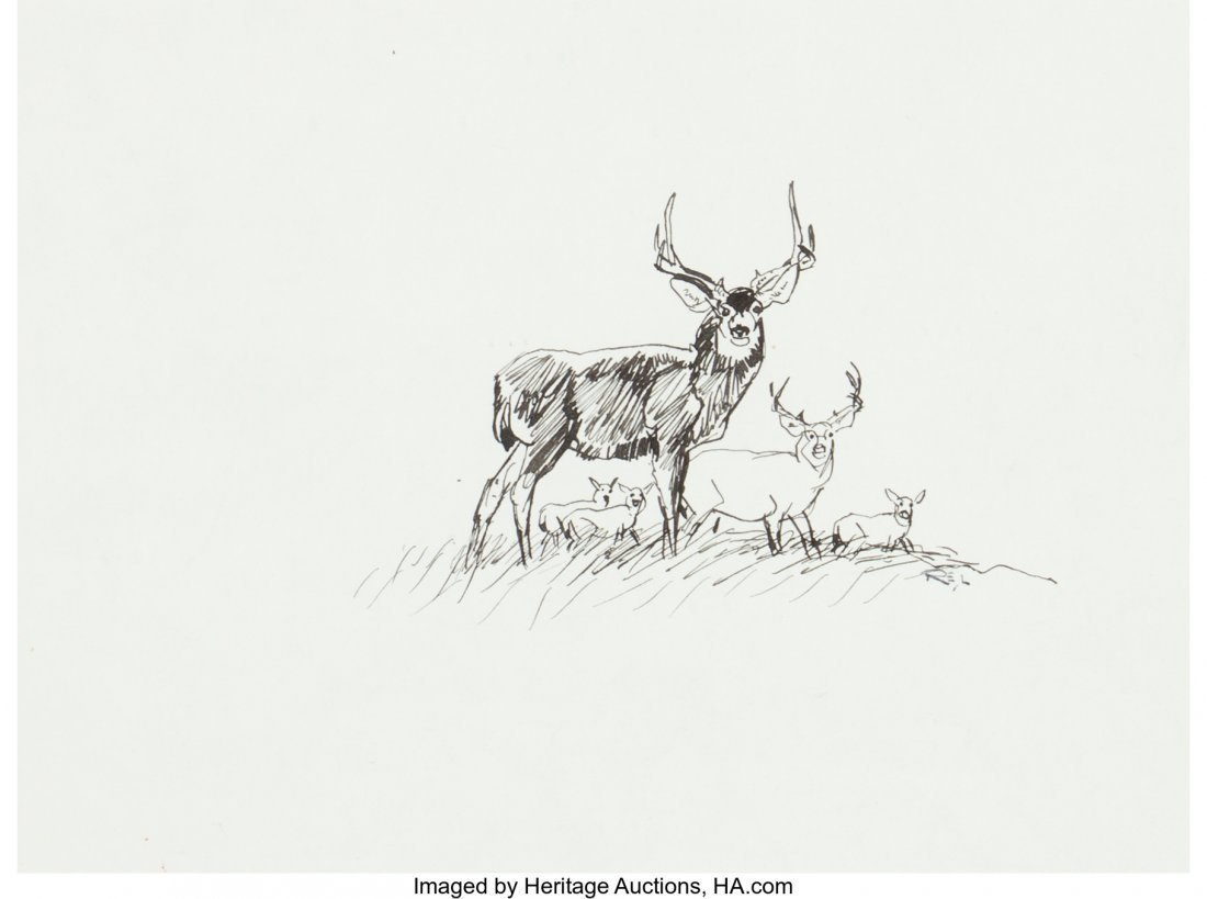 63022: Robert E. Lougheed (American, 1910-1982) Deer In