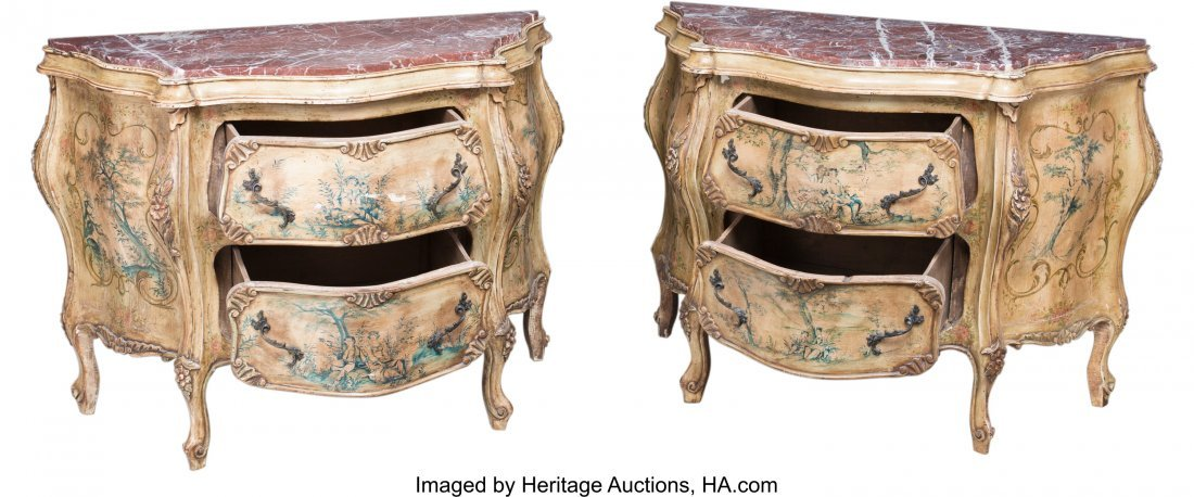 63192: A Pair of Venetian-Style Paint-Decorated Commode - 2