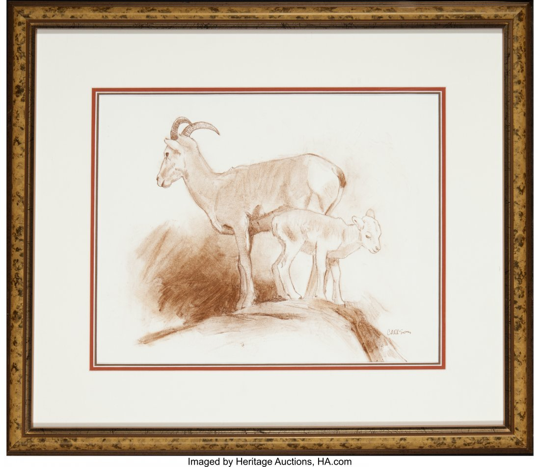 63023: Ken Carlson (American, b. 1937) Bighorn Sheep (t - 3