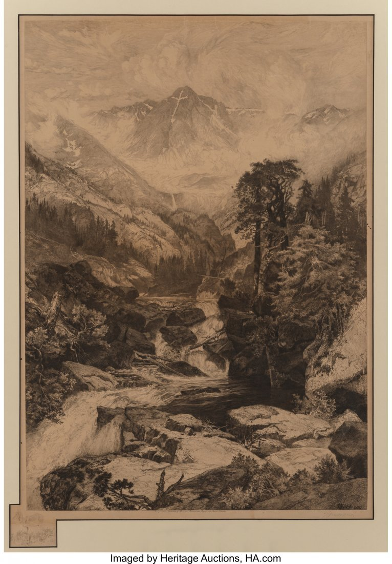 63024: Thomas Moran (American, 1837-1926) Mountain of t