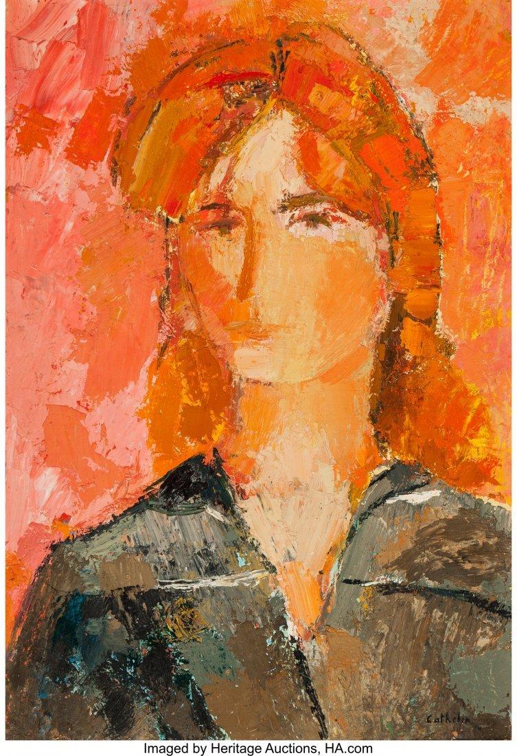 63289: Bernard Cathelin (French, 1919-2004) Portrait d'