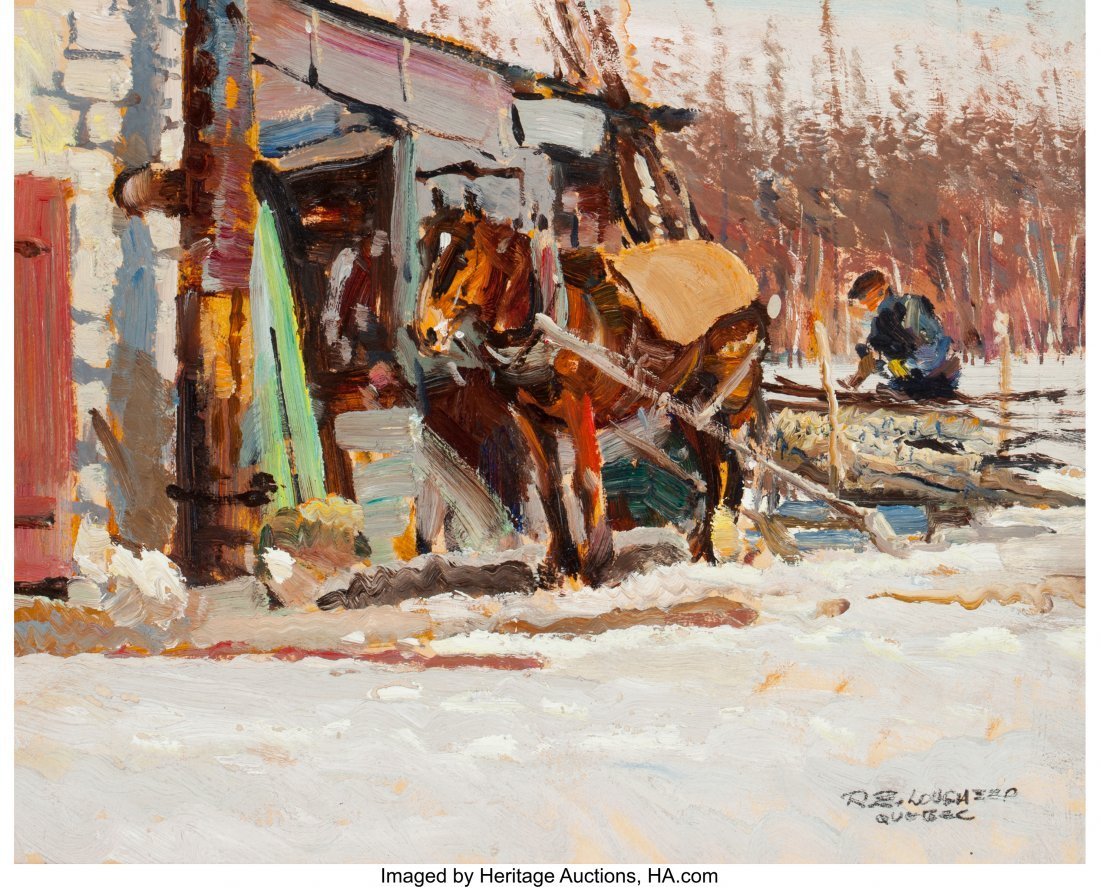 63027: Robert E. Lougheed (American, 1910-1982) Quebec