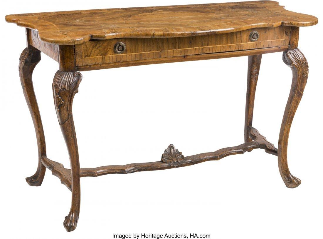 63197: An Italian Rococo-Style Walnut Table 31-3/4 h x