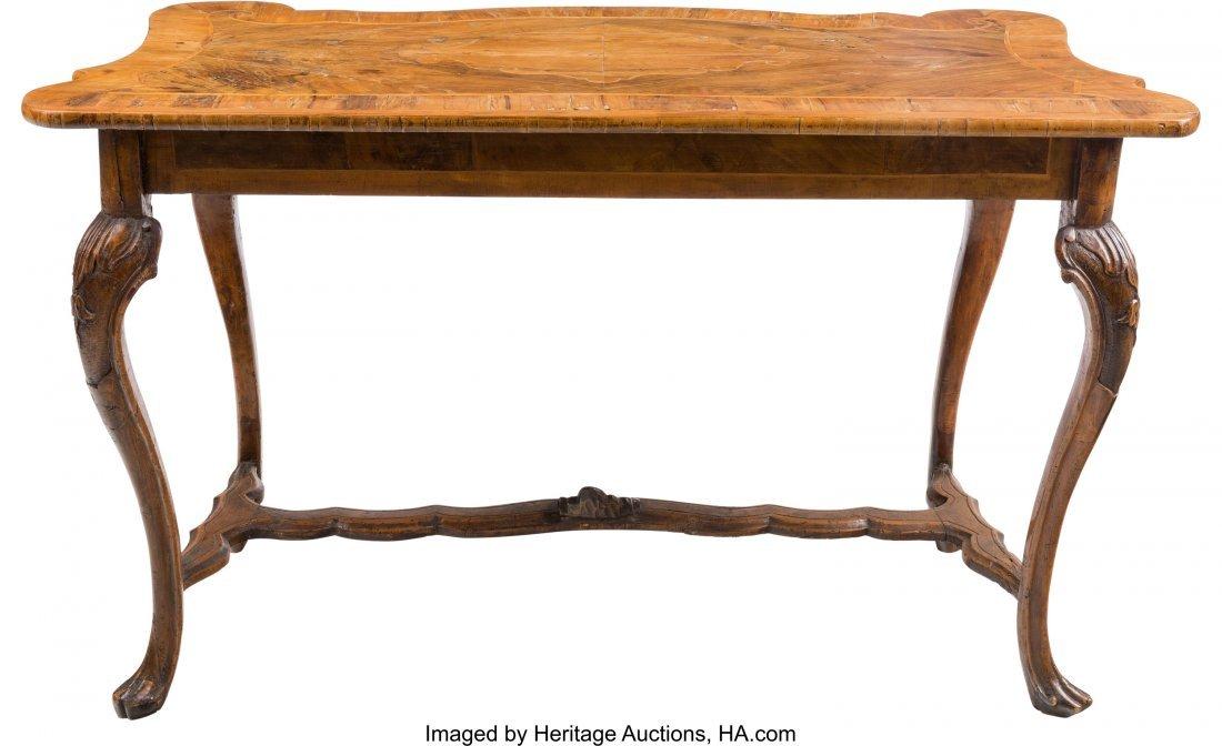 63197: An Italian Rococo-Style Walnut Table 31-3/4 h x  - 2