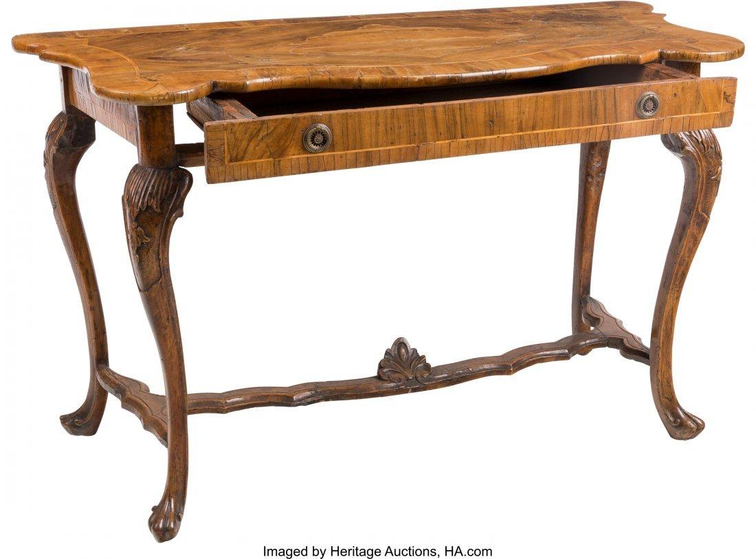 63197: An Italian Rococo-Style Walnut Table 31-3/4 h x  - 3
