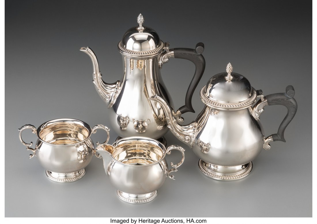 63121: A Four-Piece Mappin & Webb Silver Tea and Coffee