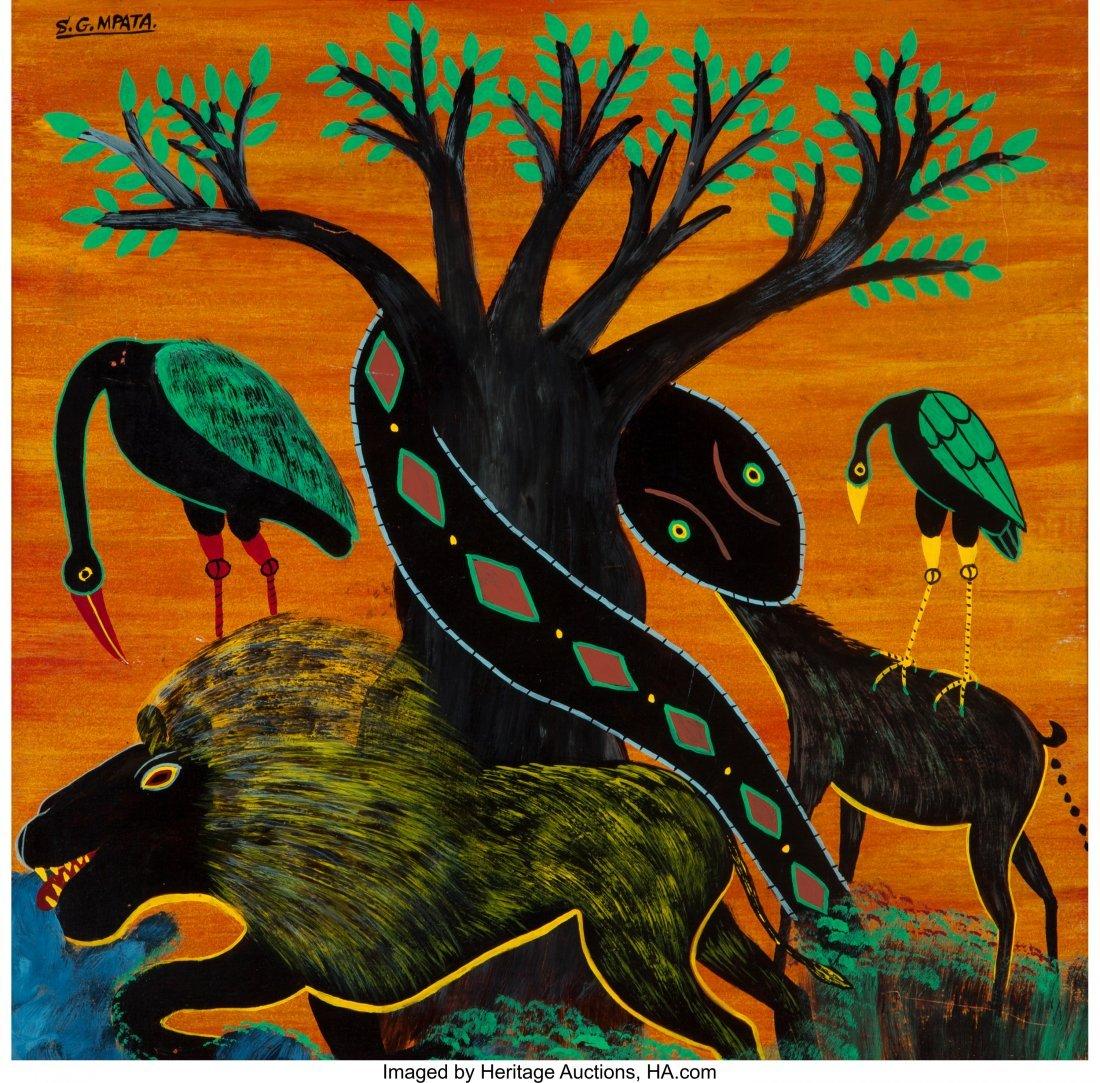 63292: Simon George Mpata (Tanzanian, 1942-1984) Untitl