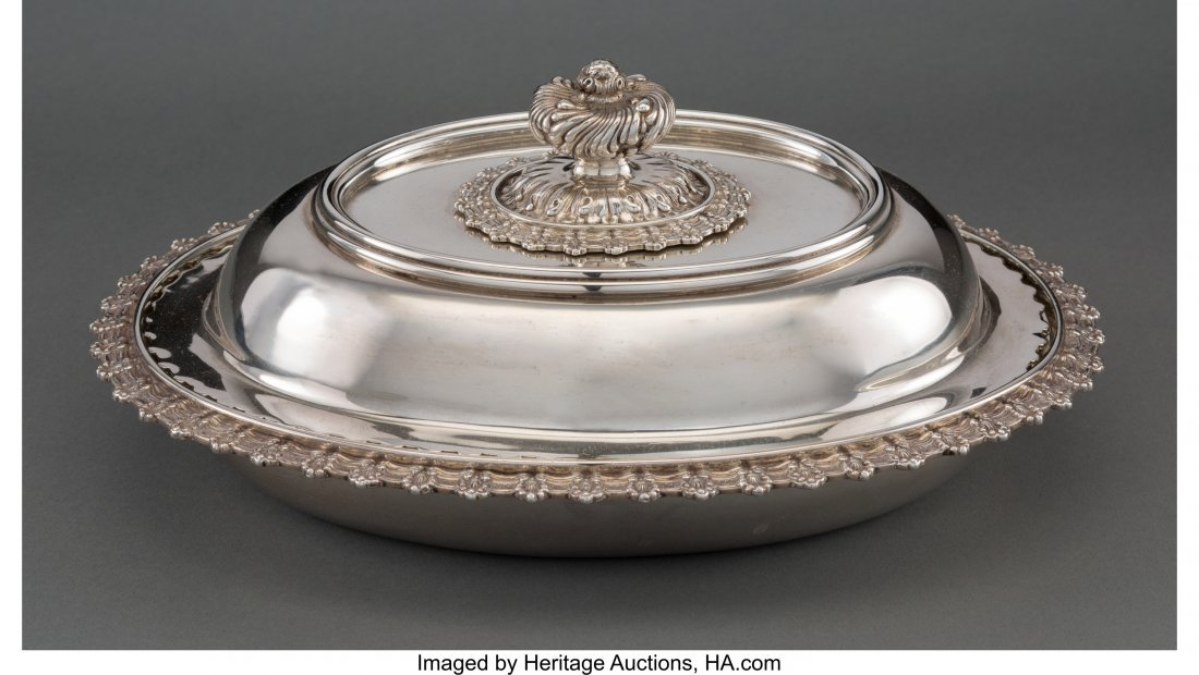 63123: A Tiffany & Co. Silver Covered Vegetable Dish, N