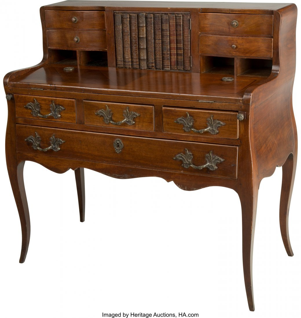 63204: A French Provincial-Style Desk with Faux Book Ch