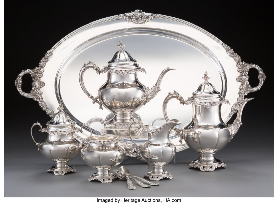 63127: A Six-Piece Wallace Grand Baroque Pattern Silver
