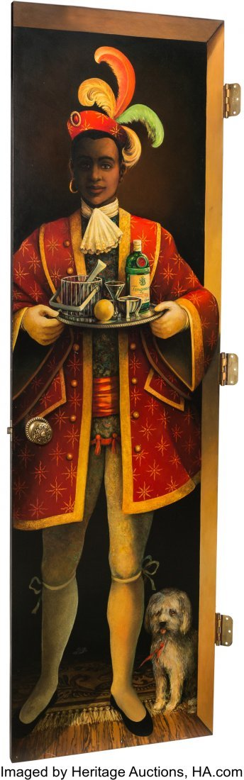 63300: A Ron Roberts Acrylic on Panel Door Depicting a