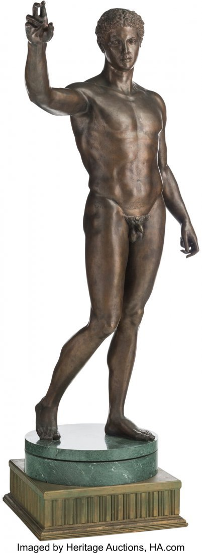 63213: A Life-Sized Bronze Sculpture after the Antique: