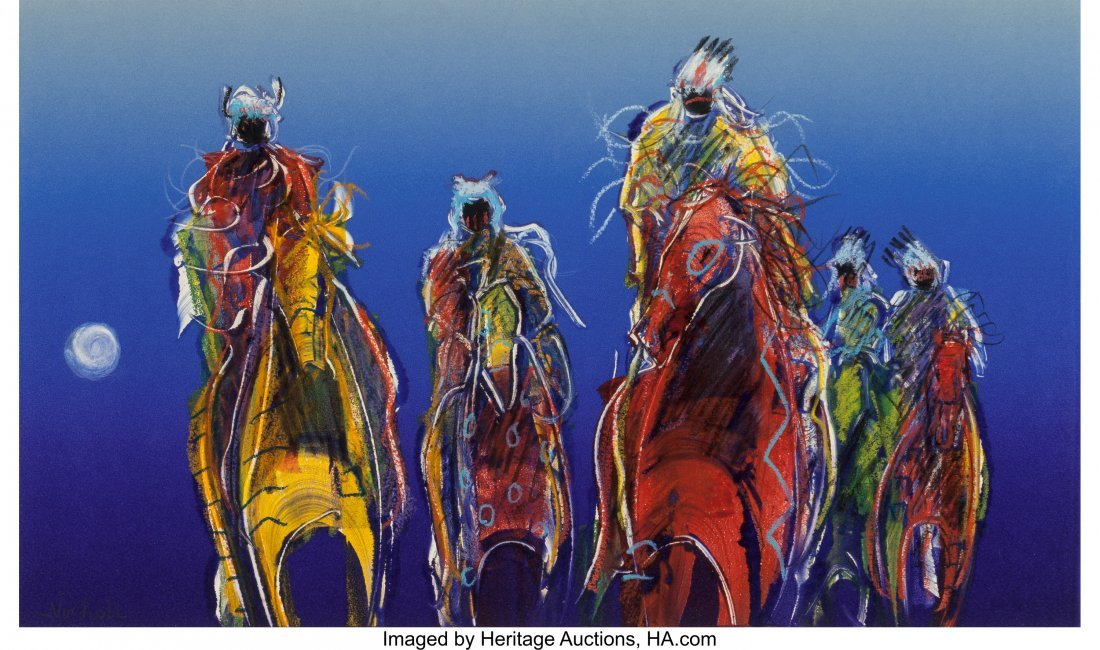 63045: Raymond Nordwall (b. 1965) Moonlight Ride Mixed