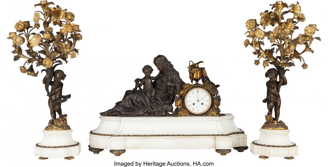 63376: A Three-Piece French Louis XV-Style Gilt and Pat