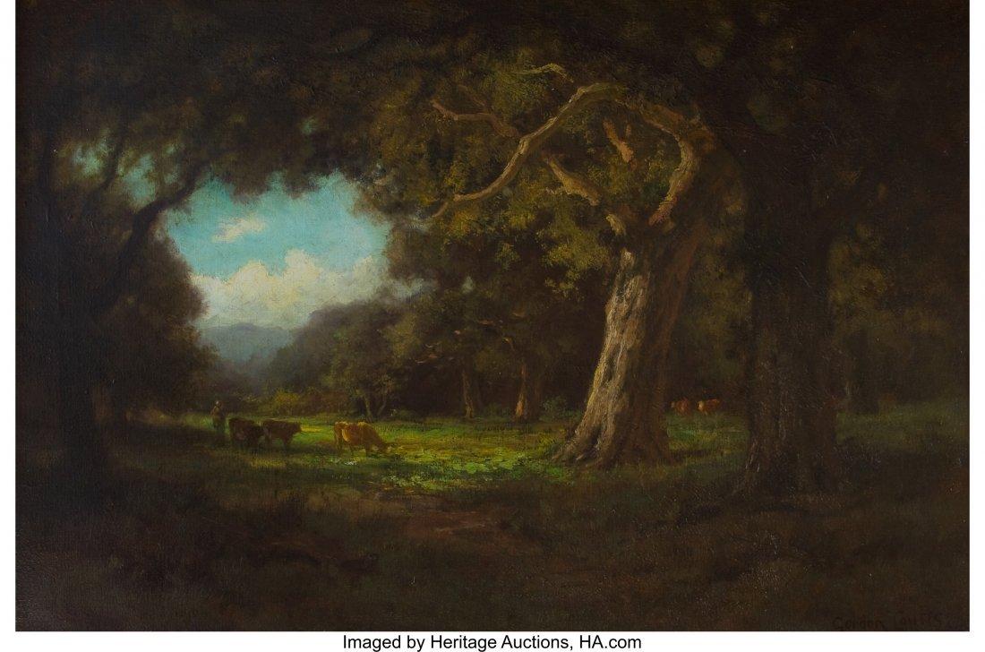 63056: Gordon Coutts (American, 1880-1937) Cattle Grazi