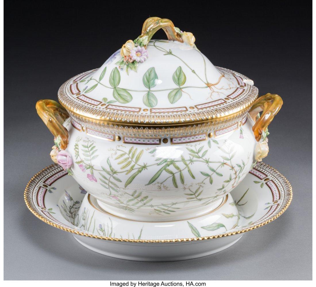 63145: A Royal Copenhagen Flora Danica Pattern Porcelai