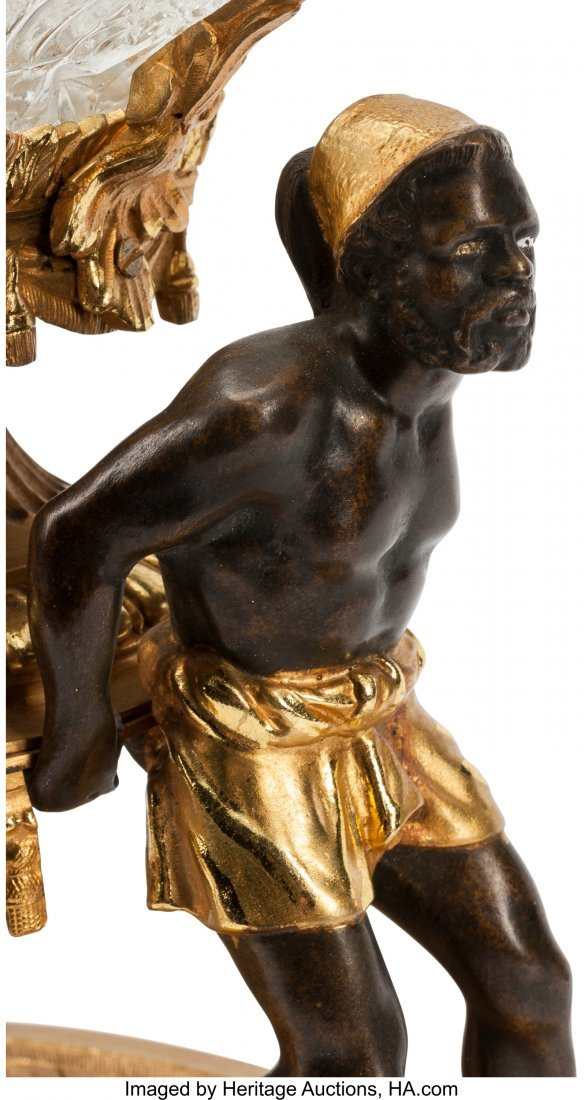 63234: A French Gilt and Patinated Bronze and Cut Cryst - 2