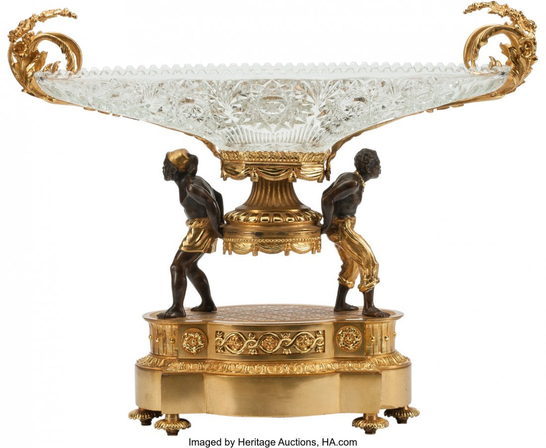 63234: A French Gilt and Patinated Bronze and Cut Cryst - 3