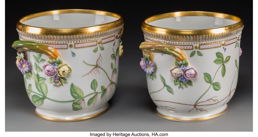 63147: A Pair of Royal Copenhagen Flora Danica Pattern