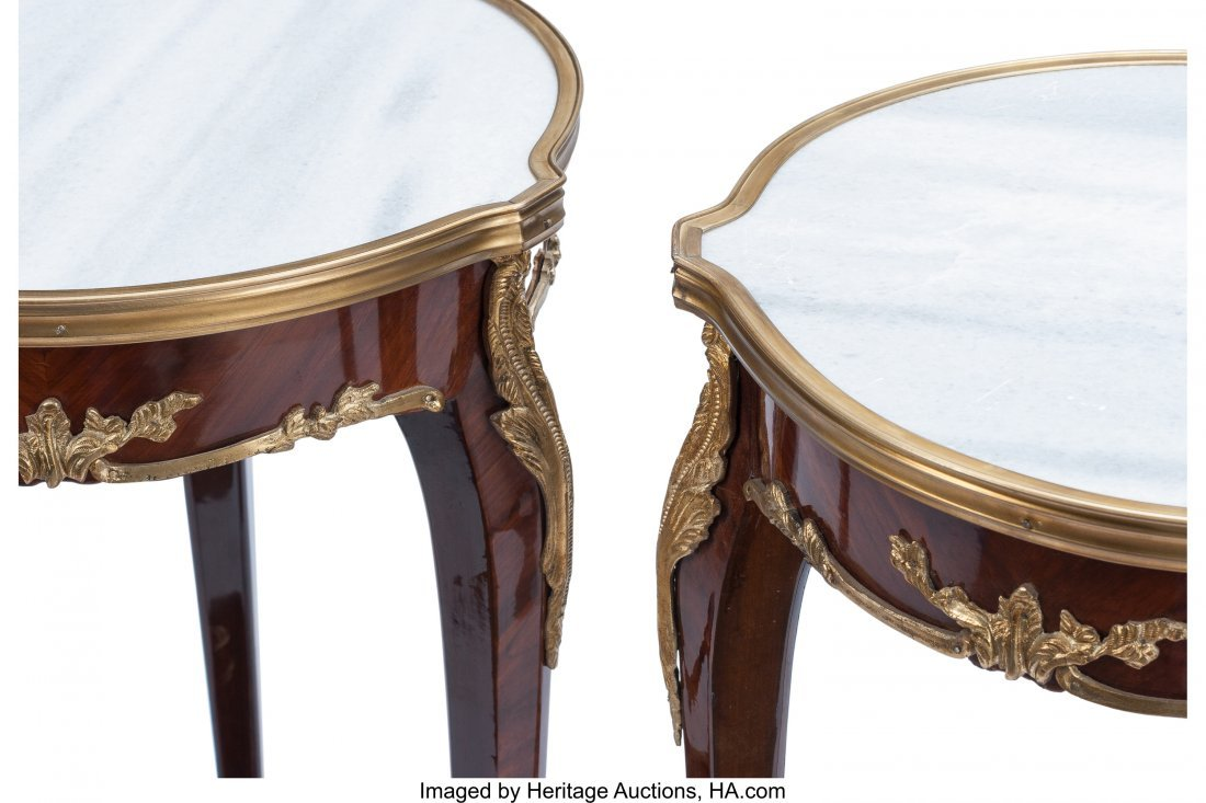 63395: A Pair of Louis XV-Style Mahogany and Gilt Bronz - 2