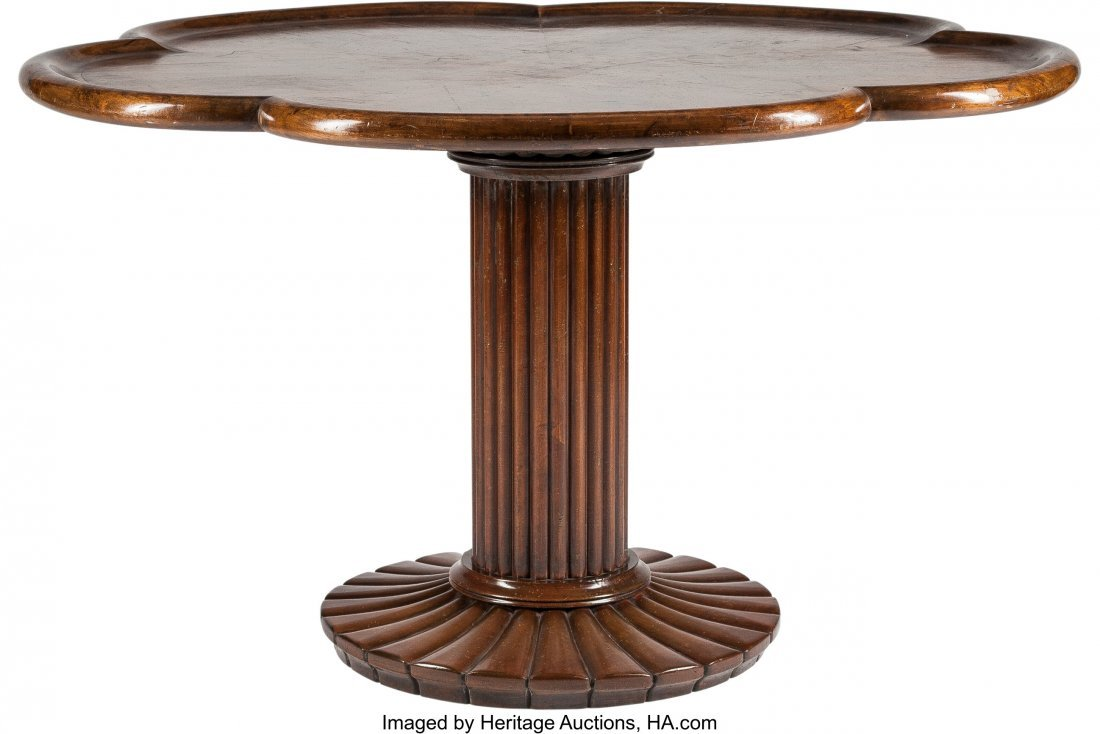 63324: An Art Moderne-Style Mahogany Center Table with
