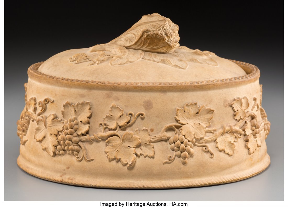 63154: A Wedgwood Caneware Game Pie Covered Dish with G