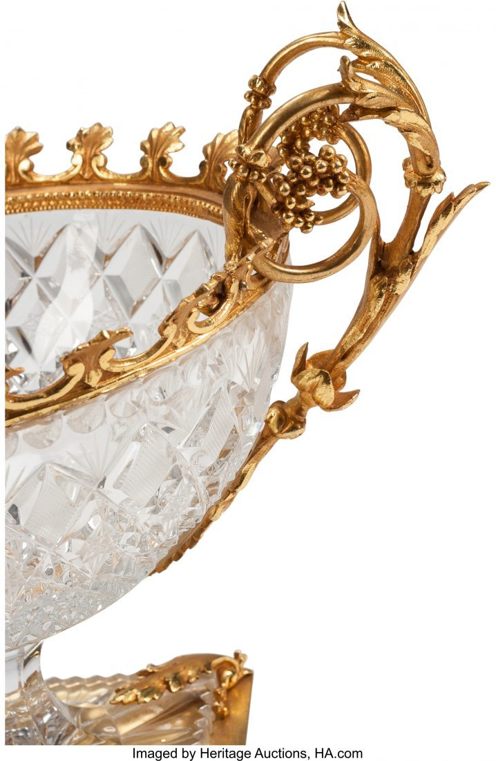 63246: A Pair of Louis XVI-Style Cut Crystal and Gilt B - 2