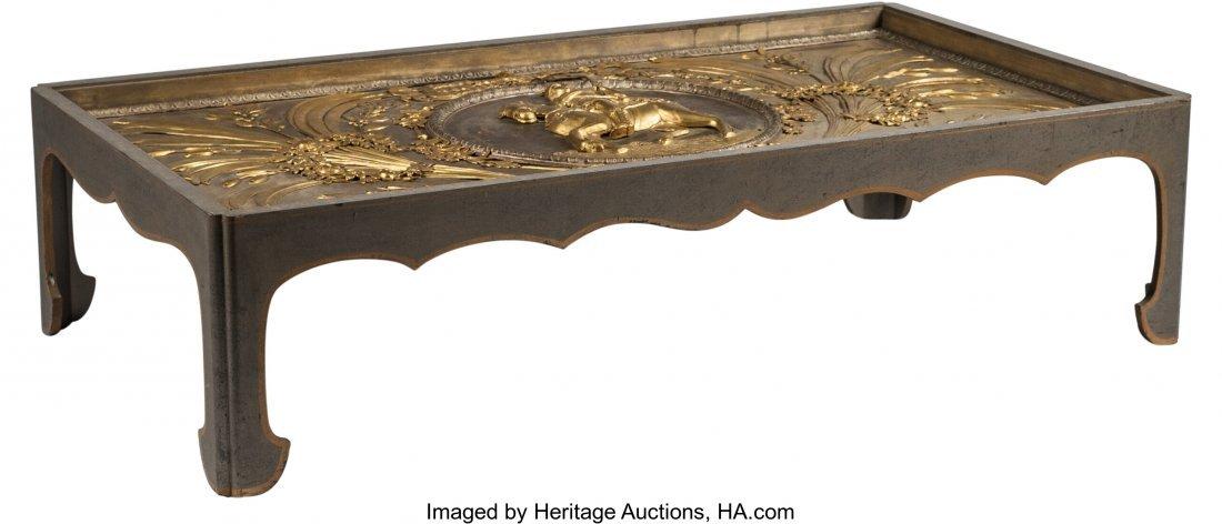 63330: A Louis XVI-Style Gilt Bronze Plaque Mounted as