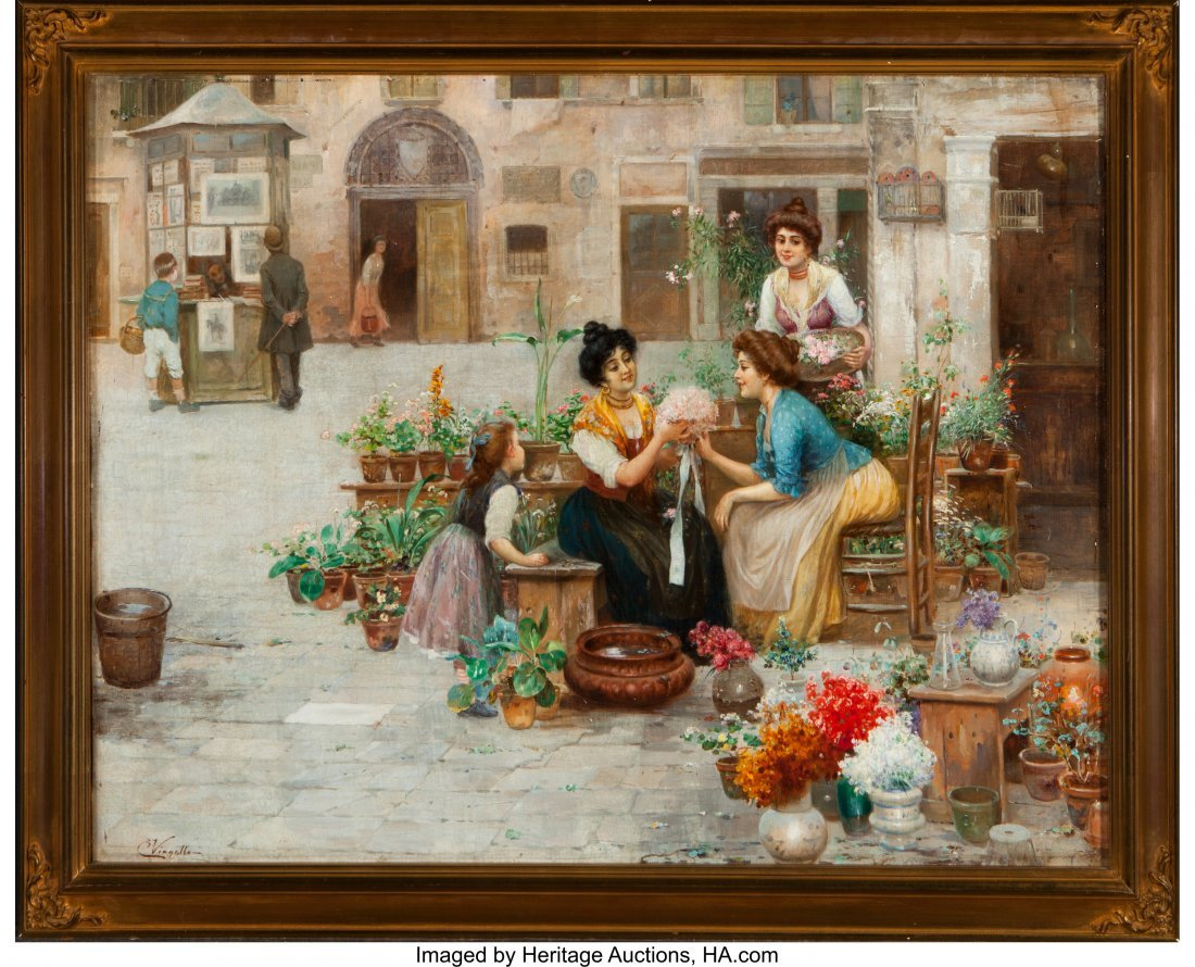 63427: Cesare Vianello (Italian, 1862- circa 1920) Flow - 2