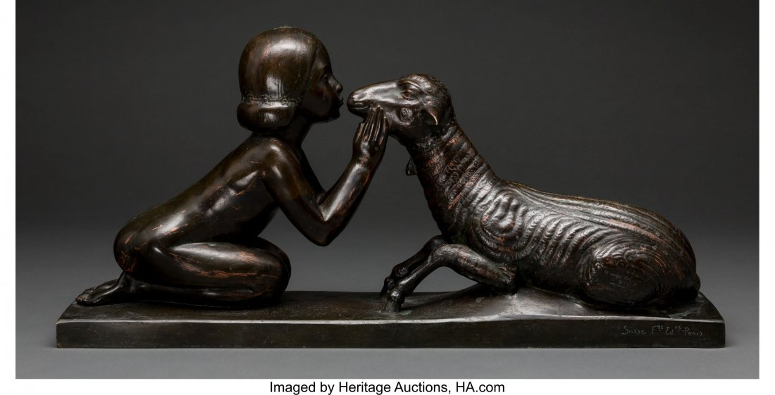 63334: Charles Raphael Peyre (French, 1872-1949) Girl K